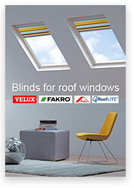 thermal skylight roof blinds